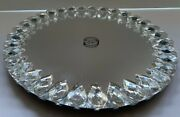 Vidali Collection 12 Mirrored Lazy Susan Oval 1.5 Crystal Stones All Round Nwt