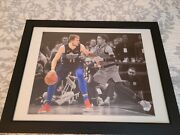 Luka Doncic Autographed 16x20 Picture Jsa Dd66224 Frame Size 27w X 21 H