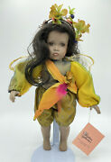 Paradise Galleries Porcelain Doll Woodland Fairy Amber By Patricia Rose