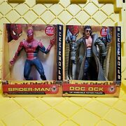 Toy Biz Spider-man And Doc Ock 12 Figures Nib 2004 Toby Maguire And Alfred Molina