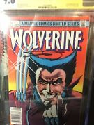 Wolverine 1 Cgc Ss 9.6 Frank Miller Signed And Lee 9/1982 Limited Series Wh Pages