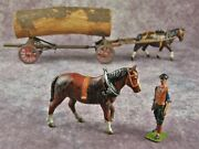 Britains Pre War Lead Timber Carriage With Real Log No12f