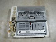 Vintage 1950and039s/70and039s Nuvox Nr-500 Battery Op Portable Reel To Reel Tape Recorder