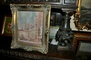 Antique Painting Of The World Renown Marien Platz In Munich Germany