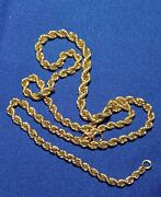 Vintage Russian Soviet Graduated Rope Necklace Chain