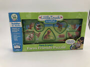 Little Touch Leappad Learning System Press And Learn Farm Friends Puzzle