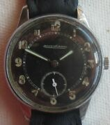 Jaeger Lecoultre Military Wristwatch Steel Case Load Manual Original Dial