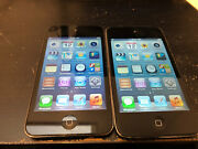 Lot Of 2x Apple Ipod Touch 4th Generation Black 16 Gb Bad Lcd A224