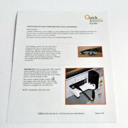 Cynosure Sculpsure Quick Reference Guide Pac Key Insertion Cellular Modem Usb