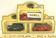 1994 Lledo Days Gone Shell Fire Tanker + Oil Delivery Trucks Made In England Set