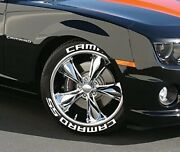 Tire Lettering Permanent Camaro Stickers 14-24 8x Letters 1.25 4 Tires