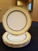 Losol Ware Art Deco 10 Dinner Plates 1920and039s England Set Of 5-mint