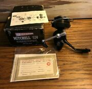 Vintage Garcia Mitchell Model 524 Reel W/orig Box And Papers-d.roberts