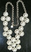 Rare Vintage Talbots Cleopatra Style Faux Pearl And Rhinestone Necklace