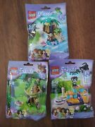 New Lego Friends Pets Series 1 Lot Squirrel Cat Turtle 41017 41018 41019