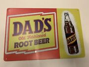 Dads Root Beer Tin Sign Mug Logo Old Fashion Bottle Can Reproduction