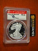 2018 S Proof Silver Eagle Pcgs Pr70 Dcam Mercanti First Day Of Issue Fdi Philly