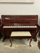 Schafer And Sons French Provincial Upright Piano 43 Polished Mahogany