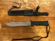 Frost Usa Cutlery Combat Hunter Bowie Fixed Blade Dagger Knife With Sheath.