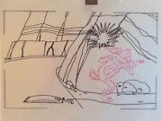 There They Go-go-go 1956 Original Production Drawing Wile E. Coyote