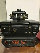 Mccoy Pottery Vintage 1960s Wood Burning Stove Cookie Jar Hand Painted Usa