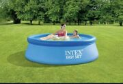 🌊 Intex 8'x24 Easy Set Round Inflatable Above Ground Pool W/pump And Filter🌊