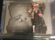 Drew Brees 2009 Upper Deck Exquisite On Card Auto 9/30 Jersey Number 1/1 🔥🔥