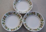 Set Of 3 Noritake Progression Homecoming 9002 Cereal Bowls About 6 5/8 In.