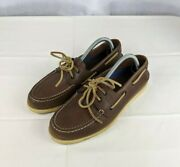 Sperry Brown 2-eye Boat Shoes Top Sider Menand039s Size 8 M 0195115 Nautical