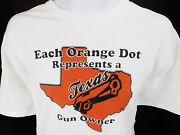 Xl Each Orange Dot Represents A Texas State Tx Gun Owner T Tee Shirt