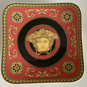 Versace Medusa Red Bread And Butter Plate 5 1/2x5 1/2 Rosenthal14x14cm Square Rot