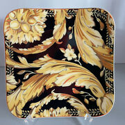 Versace Vanity Bread And Butter Plate 5 1/2x5 1/2 Rosenthal14x14cm Square