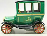 Vintage Japanese Tin Lithographed 1905 Cadillac 'old Timer' Friction Toy Car