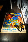 Tribute To A Bad Man 4x6 Ft Vintage French Grande Movie Poster 1956 Used