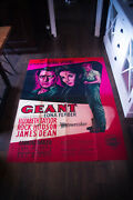 Giant James Dean 4x6 Ft French Grande Movie Poster Original 1956 Used