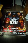 Justice League Style A 4x6 Ft Bus Shelter D/s Movie Poster Original 2016