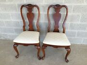 Stanley American Craftsman Chippendale Style Cherry Side Chairs - A Pair