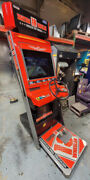 18 Wheeler Stand Up Arcade Driving Video Game Machine Works Great 22 Lcd