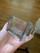 Antique Gerrix Hoosier Cabinet Glass Spice Scoop Drawer Two Small Clear