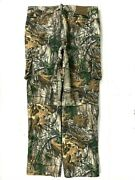 Cabelas Menand039s Mossy Oak Camo Hunting Pant Size 34 Tall