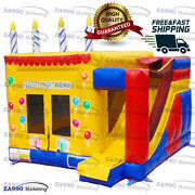 16x16ft Inflatable Birthday Bounce House And Slide Castle With Air Blower