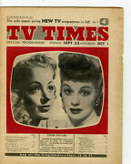 First Edition Issue Tv Times No1 Very Rare September 22 1955 Collectors Dream.