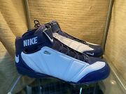 Dallas Cowboys Nfl Air Zoom Super Bad Ii White/navy Football Cleats New In Box