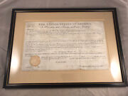 Antique 1831 Andrew Jackson Signed Land Deed As President