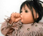 Vintage Native American Thumb Sucking Papoose Doll