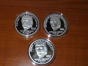 Keep America Great 2016,2017,2020.25 Msrp,donald J Trump,1 Oz 999 Silver,3 Coin