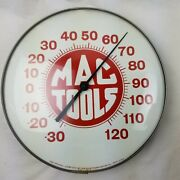 Mac Tools The Original Jumbo Dial By Ohio Thermometer 12 Round Wall Advertise