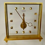 Jaeger Le Coultre 8-day Inline Movement Table Desk Clock 1960and039s Rare