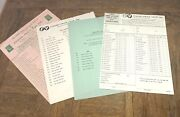 4 Rare 1950s Vintage Fisher Price Lists Pull Toy Paper Items History
