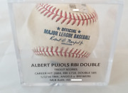 Albert Pujols And03916 Game Used Rbi Double Baseball Trout Scores Mlb Authenticated